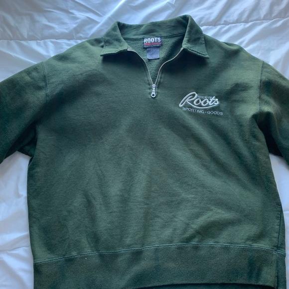 vintage roots athletics quarter zip sweater